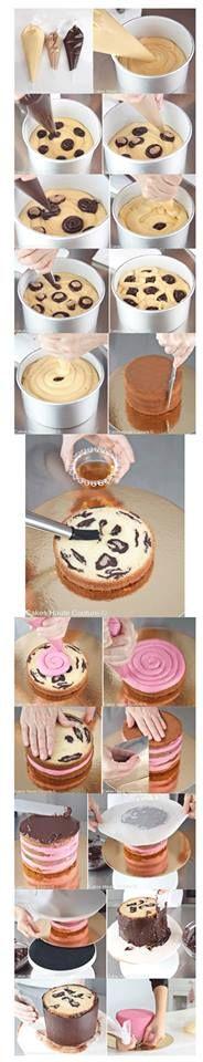 torta leopardo y rosa