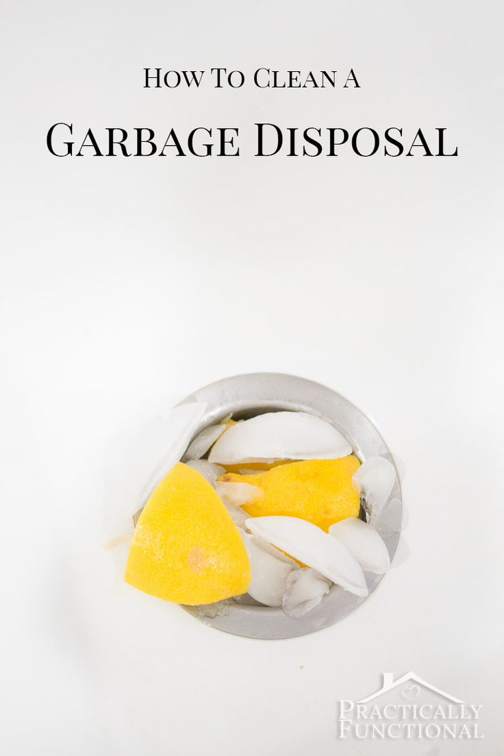 Learn how to clean and deodorize your garbage disposal with baking soda, vinegar, ice, and lemon using this step by step tutorial.