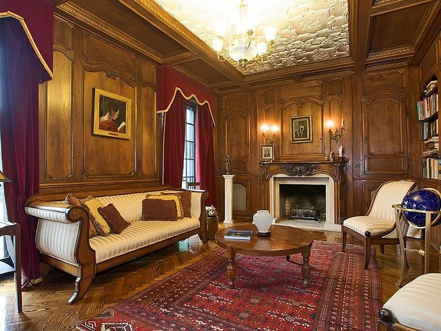 Victorian room fully paneled walls wainscoting victorian for Victorian style apartment