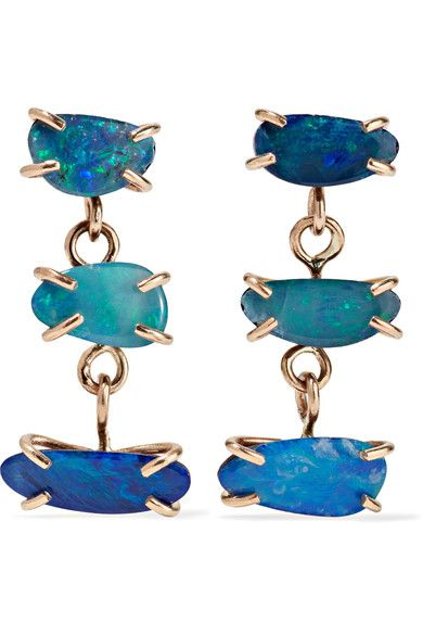 MELISSA JOY MANNING 14-karat gold opal earrings. #melissajoymanning #