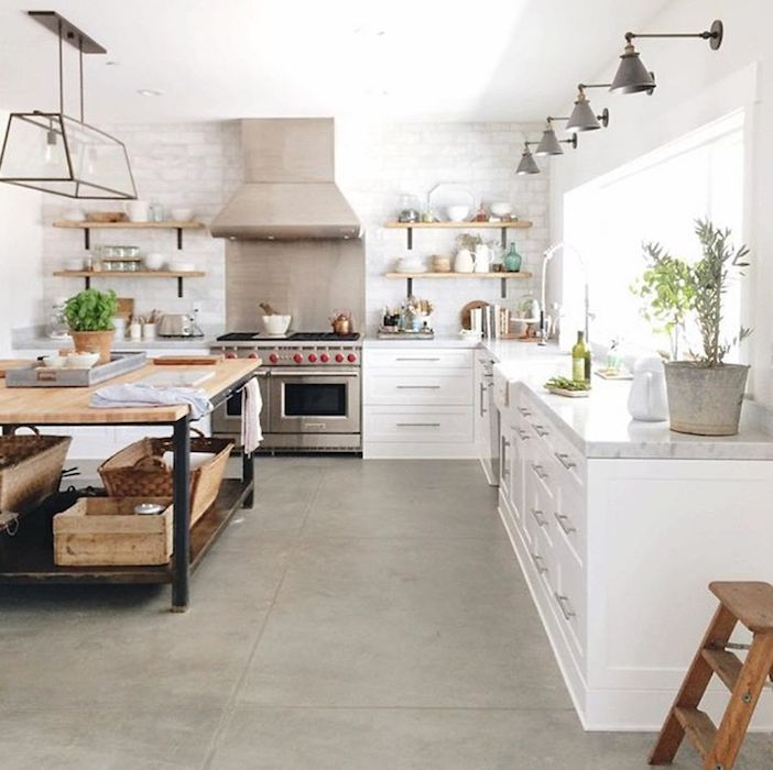 This girl's ability to take industrial fixtures and mix them in with cozy, homey elements always leaves me inspired! Check her out on Instagram @beckiowens.