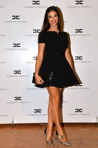 Francesca  #Chillemi #party #presentation #SS14 #MILANO #ITALIA  #dress #ELISABETTAFRANCHI #FW13
