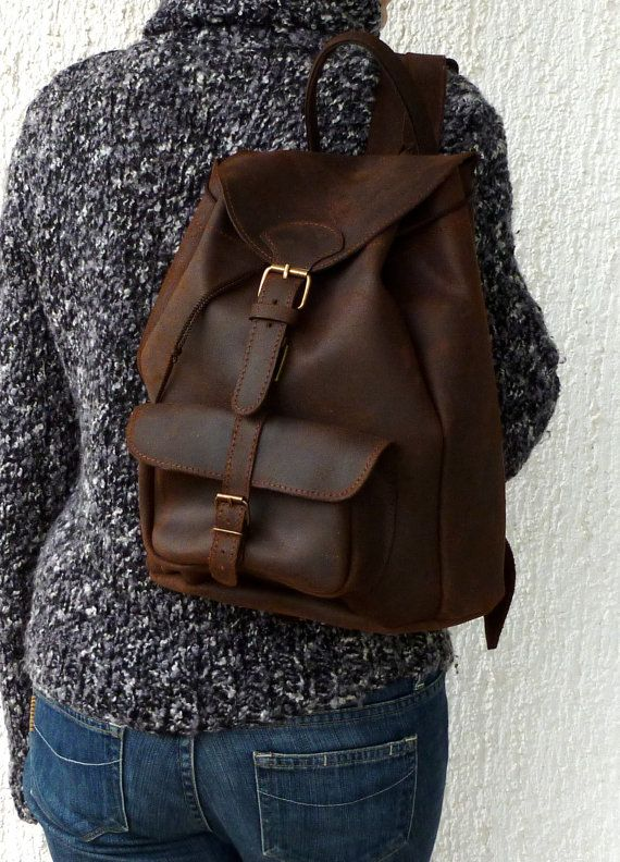 Large leather backpack /Women/Men distressed leather от BlueDrop