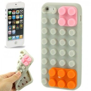 iPhone 5/5S Cases : Puzzle Silicon Case for iPhone 5 & 5s - Grey