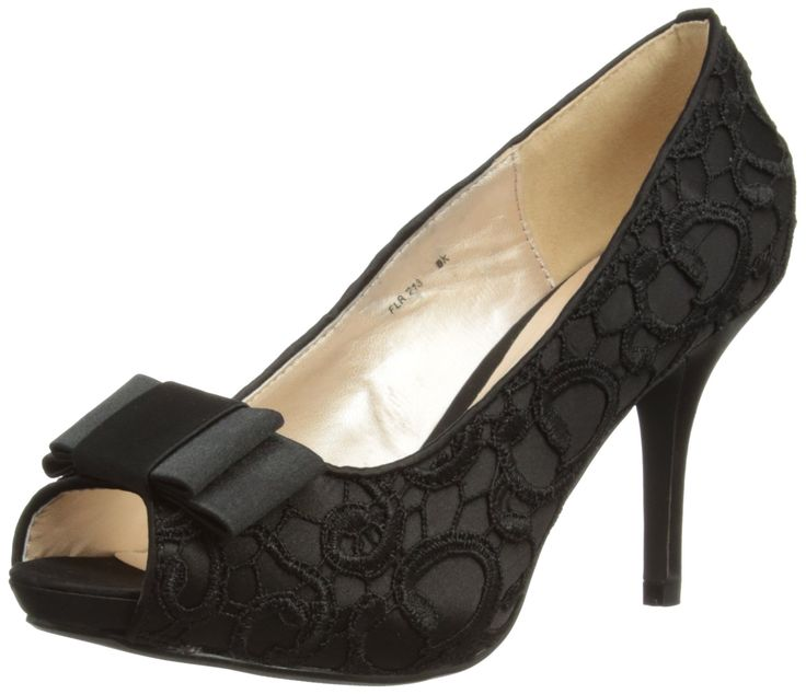 Lunar Women's FLR213 Peep-Toe, Black, 3 UK