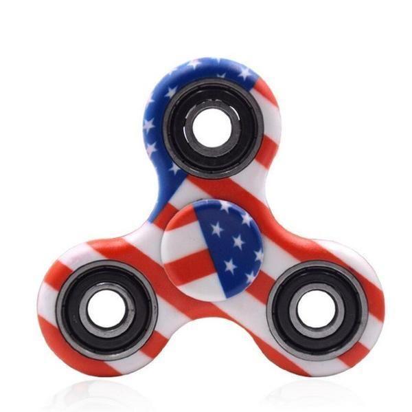 3D USA FLAG Fidget-Finger-Hand- Spinner-EDC-Irish-Stock-Focus Toy | eBay