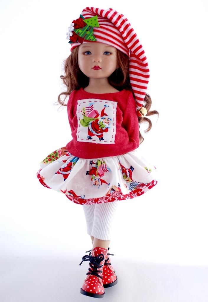 "Santa's on his way!~Christmas Outfit for 13"" Effner Little Darlings by Sharon"