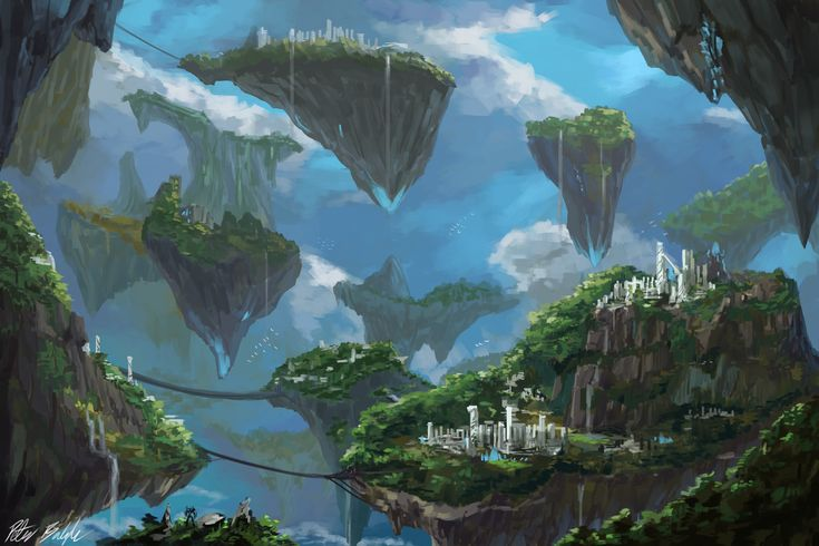 Floating Islands by PeterPrime on DeviantArt
