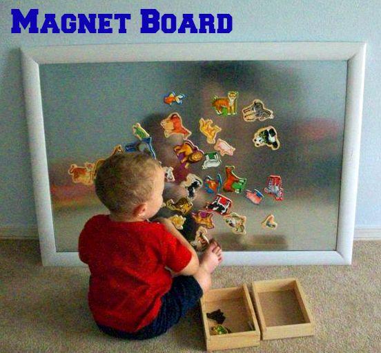 Magnet Board  #playroom #kids #magnetboard