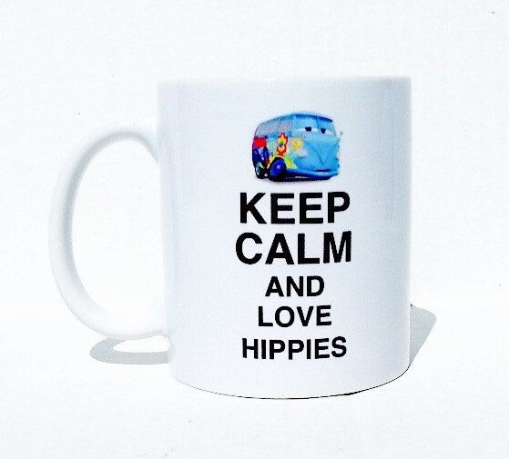 Keep calm mug hippie mug personalized mugs by mymugsandmore