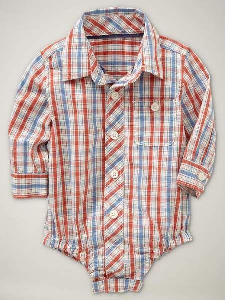 body-de-bebe-efecto-camisa-de-cuadros-baby-gap-