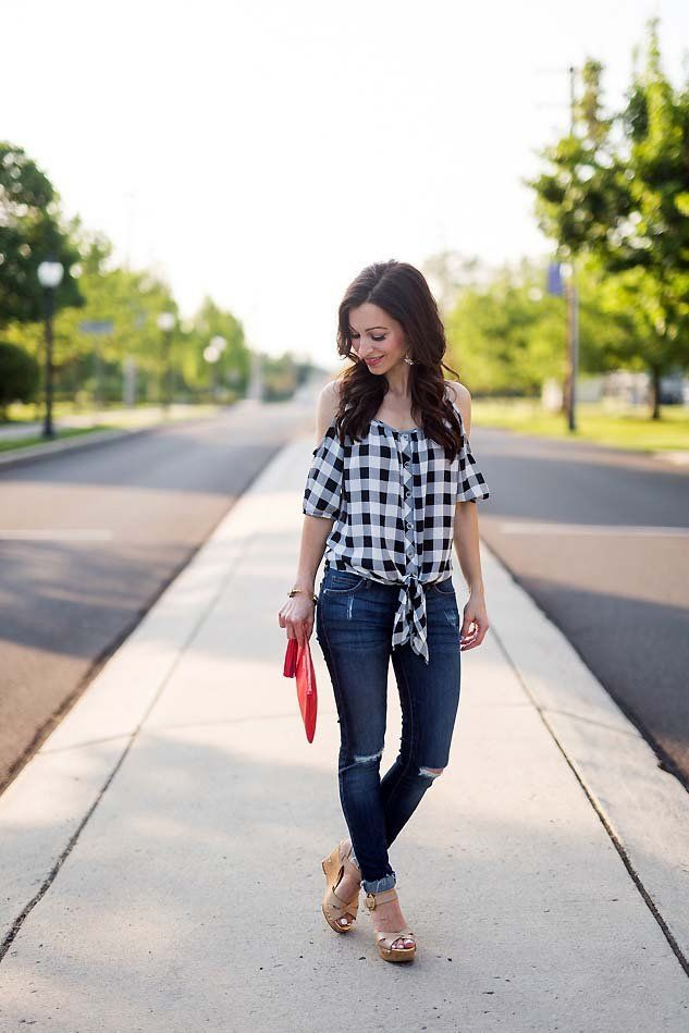 gingham top (under $20) // LipglossandLabels.com