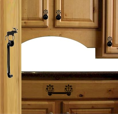 Cabinet Hardware including cabinet door handles, Drawer Handles, Knobs with Silhouettes.