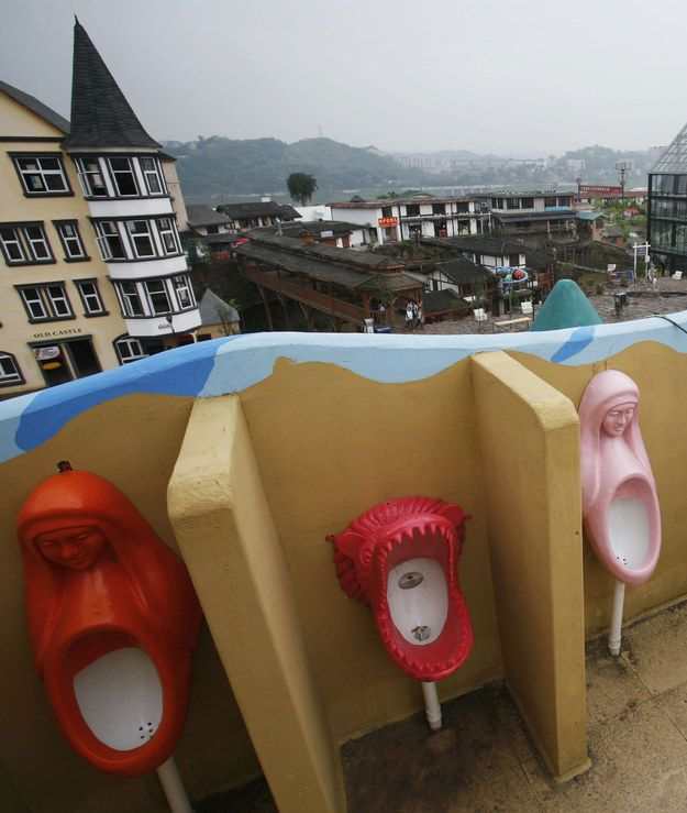 Then get silly at these wacky urinals at Foreigners Street in Chongqing Municipality, China.