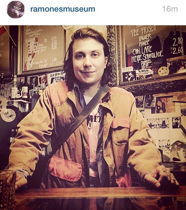 Frank Iero, frnkiero andthe cellabration, acoustic set at the Ramones Museum, Germany. 2015. ♥