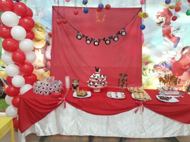 Dessert table minnie mouse themed