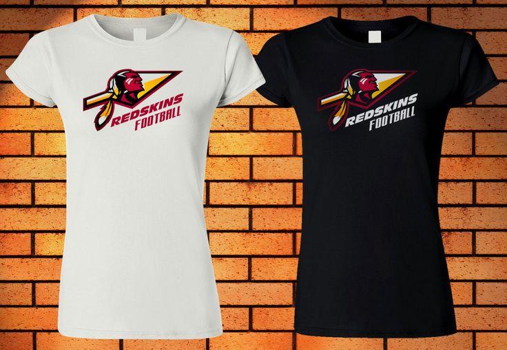 WASHINGTON REDSKINS T-Shirt Women Black White Tee New 4