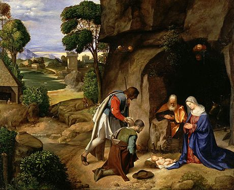 Giorgione, The Adoration of the Shepherds 1505-10 Oil on panel, 91 x 111 cm