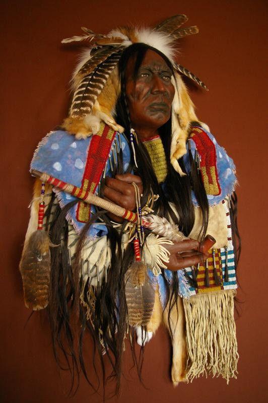 """ Red Cloud "" Mixed media, Native American mask by artist Cindy Jo Popejoy  spiritsbycindyjo.com"