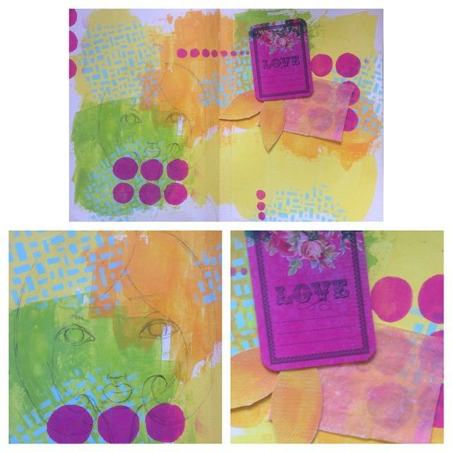 eNKay Design - Happening in my #artjournal right now #wip using some #collage material given to me by the lovely @melitabloomer