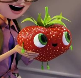 The cutest strawberry EVER - Barry (get it?) from Cloudy with a Chance of Meatballs 2.