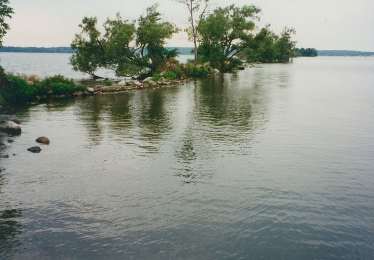 The location of the 1850's railway on Rice Lake, Ontario