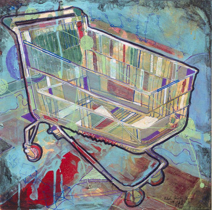 """roberto valentin carrera; Acrylic, 2012, Painting """"Carrito """""""