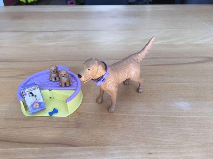 Barbie Hund mit Welpen und Leckerlies