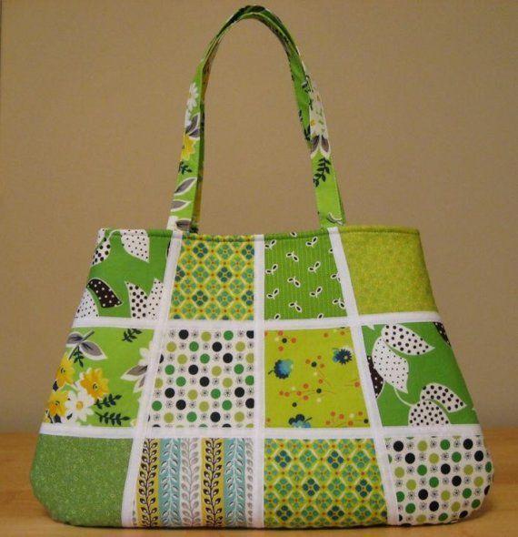 Denyse Schmidt Flea Market Fancy Green Handbag by SweetPeaTotes, $48.00