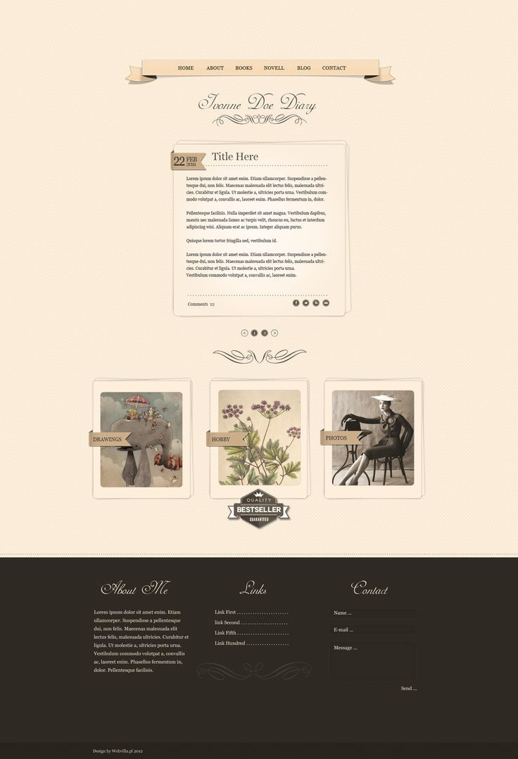 Diary WordPress Theme by webvilla.deviantart.com