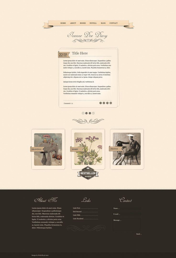 Diary WordPress Theme by webvilla.deviantart.com