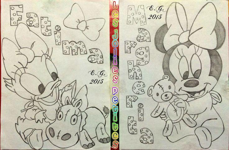 #Minnie #Paperina #Fatima #Margherita #disegno #drawing #DaisyDuck #matita #staedtler #fabriano #lesjoliespetites