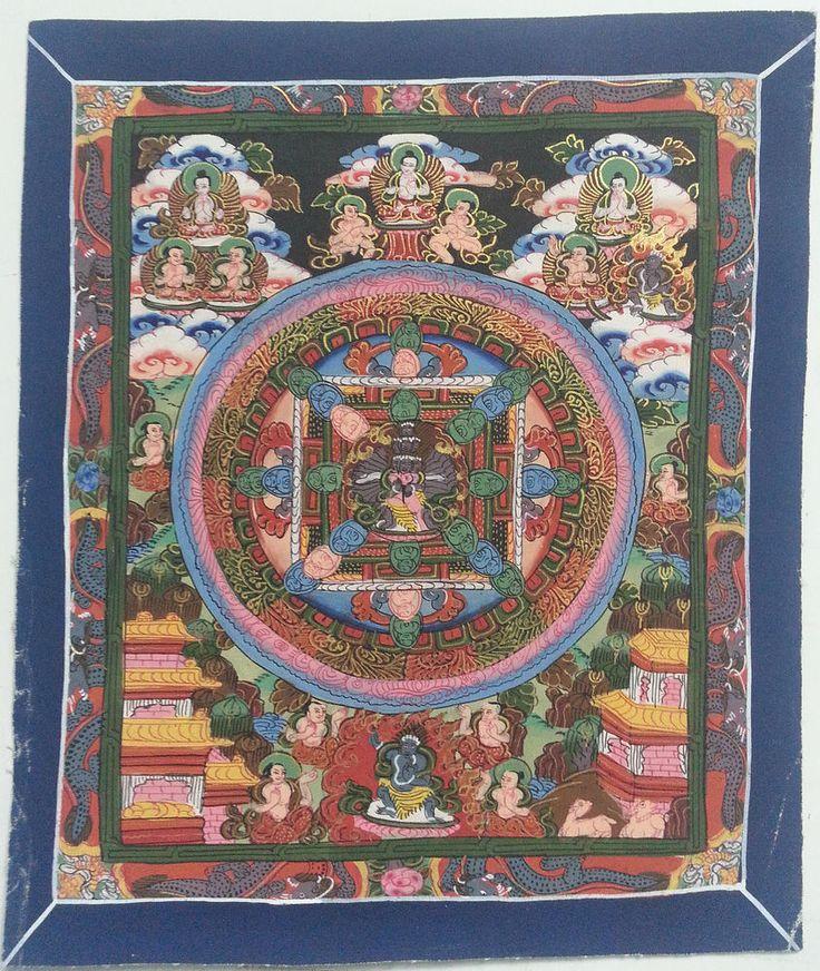 Chakrasambara Yab Yum Mandala Tibetan Thangka Painting Cotton Canvas Art   e42