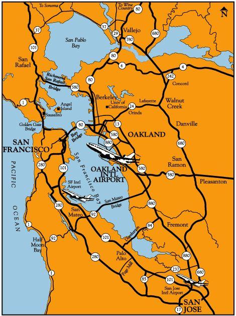 Oakland International Airport: Regional Map