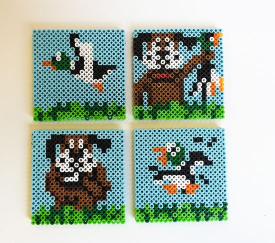 Duck Hunt Perler Bead Coasters > beetbox > Goodsmiths
