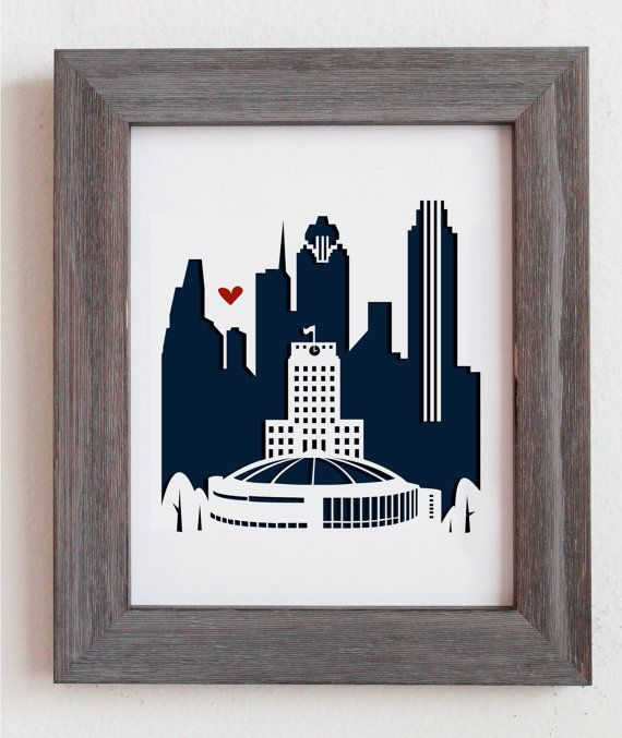 Houston TX Skyline -- Personalized Gift or Wedding Gift by Cropacature, $33.00 #etsy #dome #astrodome