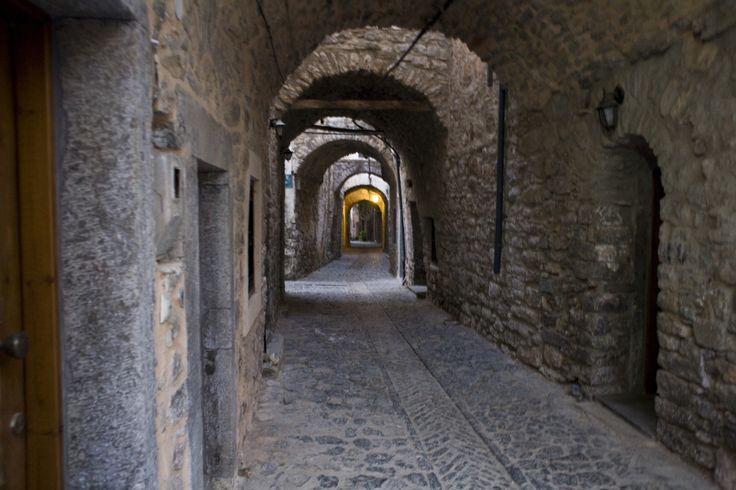 Alley inside the Medieval castle village of Mesta   Find out more : http://www.lidamary.gr/en/discover-mesta