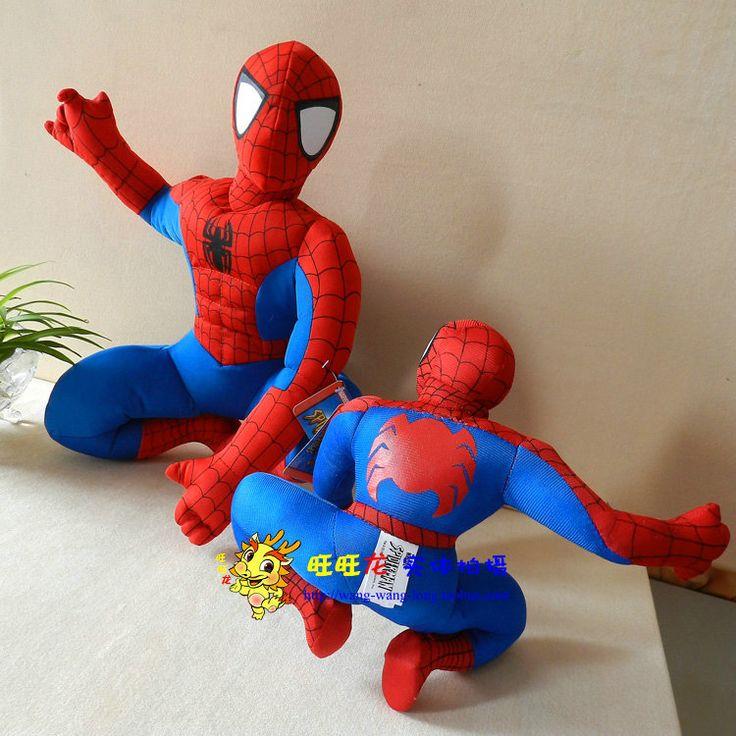 Фильм & ТВ Amazing Spider-Man Детей Игрушки Фаршированные плюшевые 60 СМ корточках Человек-Паук плюшевые куклы большой подарок w733