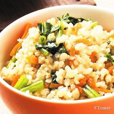 菠菜發芽米飯食譜 - 葉菜類料理 - 楊桃美食網 專業食譜