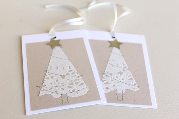doily christmas tree