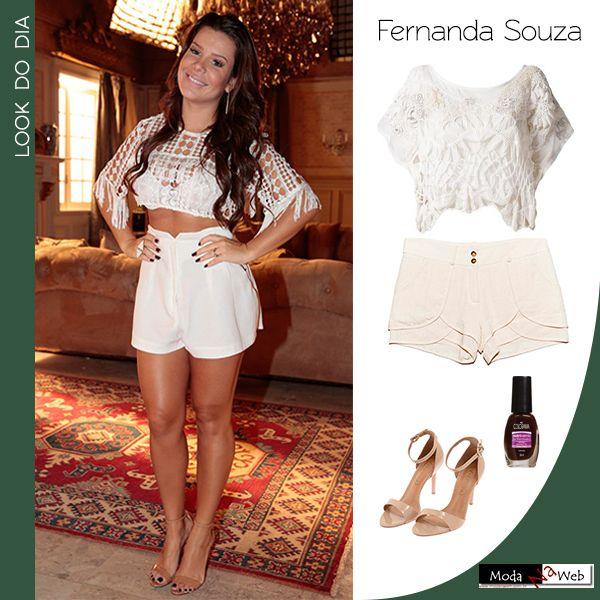 #LookDoDia: Amamos o look que a atriz Fernanda Souza usou em uma coletiva de…