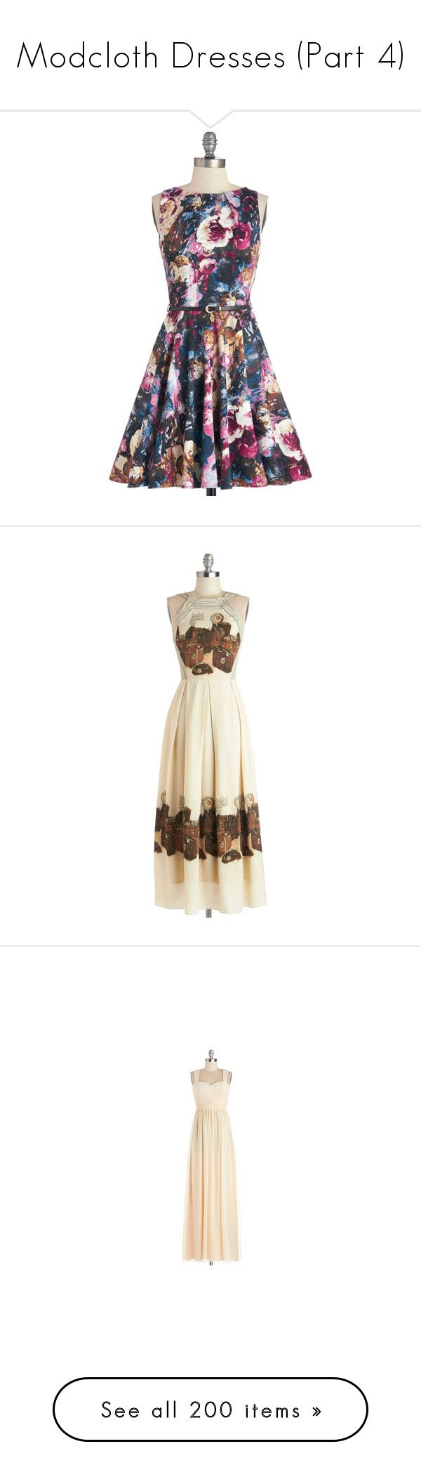 """""""Modcloth Dresses (Part 4)"""" by fashions-of-my-stories ❤ liked on Polyvore featuring dresses, apparel, classic dress, multi, going out dresses, multi colored dress, multi color dress, pocket dress, party dresses and modcloth"""