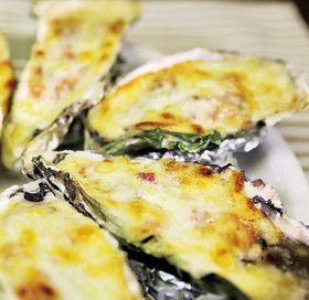 牡蠣のグリルチーズ焼き