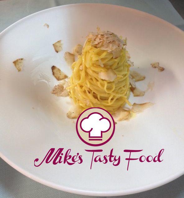 Tagliolini al tartufo Tagliolini with white truffle #allrecipes #mikestastyfood #truffle #tagliolini #recipes #cookingrecipes