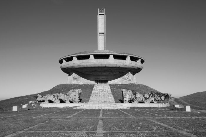 House-monument of the Bulgarian Communist Party, mount Buzludzha, 1981 Foto Nikola Mihov