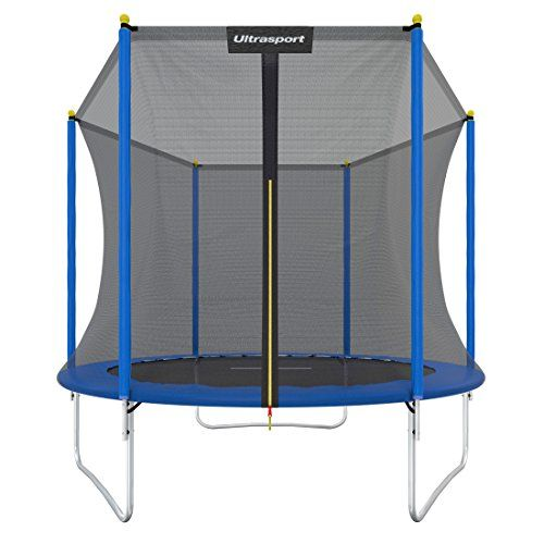 From 90.11 Ultrasport Garden Trampoline Uni-jump Kids Trampoline Trampoline Complete Set Including Jumping Sheet Safety Net Padded Net Posts And Edge Cover 96 In (244 Cm)