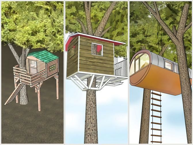 a tree house step by step
