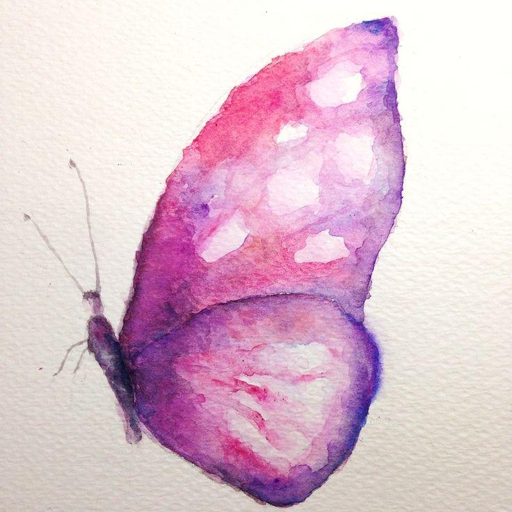 Copyright by Adriana Galindo - Borboleta / Butterfly by Adriana Galindo. aquarela/watercolor, 18 x 13 cm. commission: drigalindo1@gmail.com