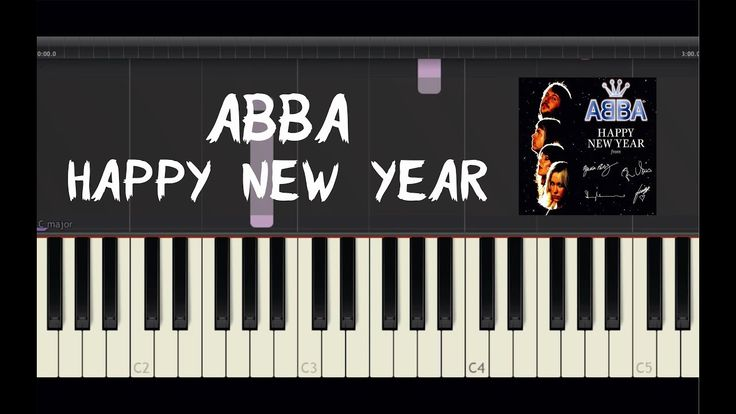 ABBA - Happy New Year - Piano Tutorial by Amadeus (Synthesia)