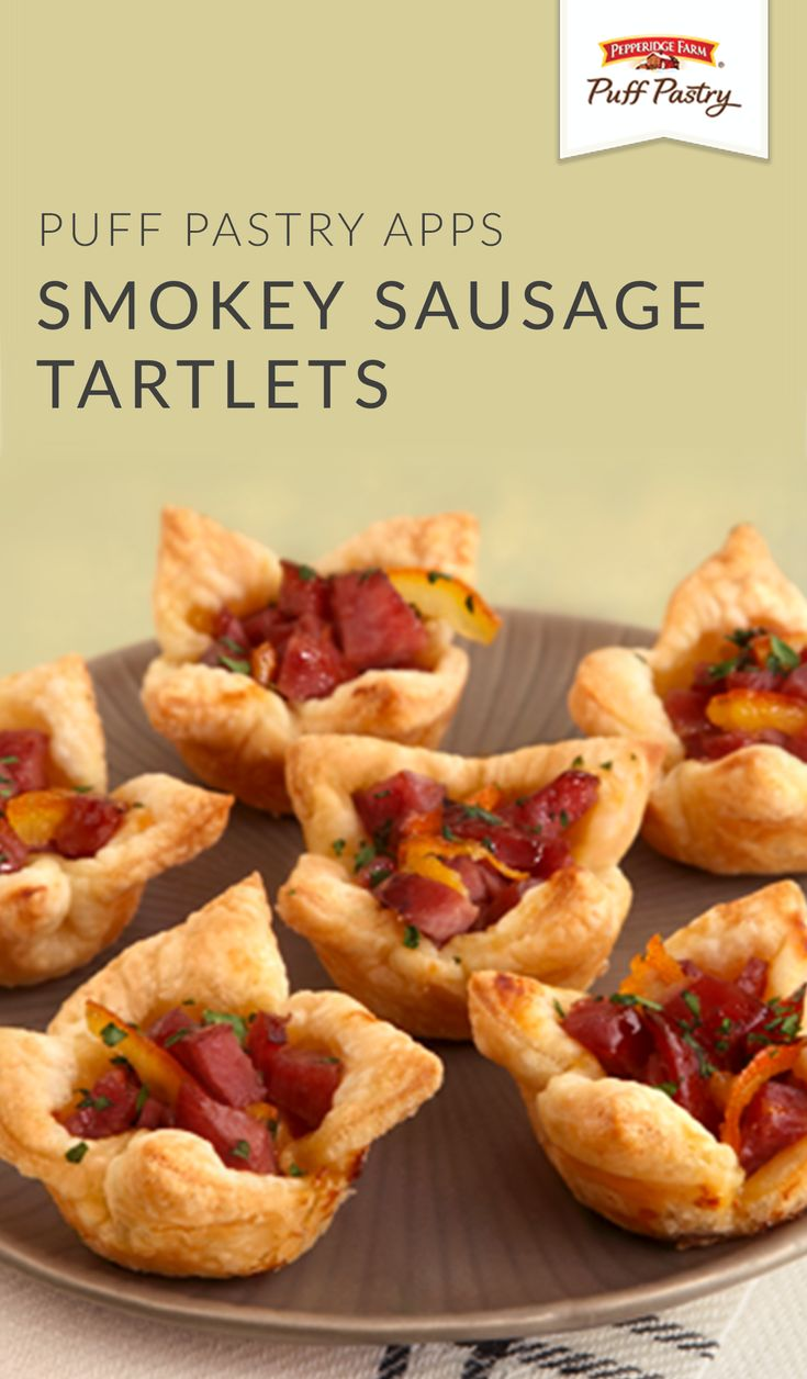 Did you know that you can use a muffin tin to create an easy appetizer recipe for your next dinner party? These Smokey Sausage Tartlets are perfect for at-home entertaining. Simply combine Pepperidge Farm® Puff Pastry Sheets with kielbasa sausage, orange marmalade, and Dijon mustard for a sweet and spicy dish that's sure to be a hit with your guests.